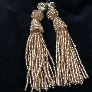 Gold bead (resin) earrings ⭐️Great Bundle Item!⭐️